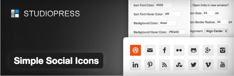 simple social icon plugin